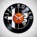 Alfa Romeo  - Bakelit falióra, Ékszer, Otthon, lakberendezés, Karóra, óra, Falióra, óra, Egyedi tervezésű bakelit falióra. Csendes óraszerkezet kúszó másodpercmutatóval, 1 év garan..., Meska