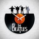 Beatles No1 - Bakelit falióra, Egyedi tervezésű bakelit falióra. Csendes óras...