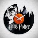 Harry Potter - Bakelit falióra, Ékszer, óra, Otthon, lakberendezés, Karóra, óra, Falióra, Újrahasznosított alapanyagból készült termékek, Egyedi tervezésű bakelit falióra. Csendes óraszerkezet kúszó másodpercmutatóval, 1 év garancia az ó..., Meska