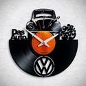VW Bogár No1 - Bakelit falióra, A Fonografik bakelitóra nem csak neked fog tetsze...