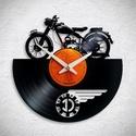 Danuvia motorkerékpár - Bakelit falióra, A Fonografik bakelitóra nem csak neked fog tetsze...