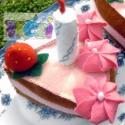 filc-süti tortaszelet, Dekoráció, Játék, Baba, babaház, A tortaszelet filc anyagból készült, flíz töltettel.20 cm átmérőjű torta szelete, 5 cm maga..., Meska