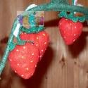 filc játék gyümölcs,banán,narancs,eper, Baba-mama-gyerek, Játék, Gyerekszoba, Baba, babaház, filc anyagból készült, mérete 15 cm. a banán kivehető a héjból. az eper 5 cm , a csomagban 3..., Meska
