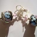 Muranoi Pandora fülbevaló ezüsttel, Ékszer, Fülbevaló, Köszöntelek!  Muranoi Pandora üveggyöngy, tibeti ezüst gyöngykupak, csiszolt üveggyöngy é..., Meska