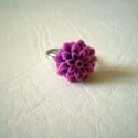 Lila dália gyűrű, Köszöntelek!  Lila akril dáliából készült e...