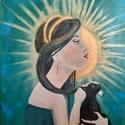 Császárnő / Empress , Művészet, Festmény, Akril, Festészet, 70*90 cm (nagy)  lakkozott akril vászonkép a kép oldalán a feszített vászon festett, keretezni nem ..., Meska