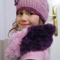 Ruzs nyakmelegítő, Ruha, divat, cipő, Gyerekruha, Kendő, sál, sapka, kesztyű, Sál, Téli, meleg, puha nyakmelegítő.  Szőrös, rózsaszín és lila fonálból.  Különbözőképpen..., Meska