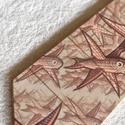 Fa nyakkendő M.C. Escher grafikájával nyomtatva, Férfiaknak, Vőlegényes, Óra, ékszer, kiegészítő, Ing, Famegmunkálás, KÉSZ, AZONNAL ELVIHETŐ!  Fából készült nyakkendő, mindenkinek aki szereti a fát vagy a nyakkendőt, ..., Meska