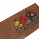 fa könyvjelző fiú gyerekeknek, Gyerek & játék, Otthon & lakás, Gyerekszoba, Dekoráció, Diófából készült Angry Birds gyerekmintás könyvjelző.  Anyaga: 2 mm vastag tömör diófa, a minta karc..., Meska