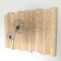 Falikép fából pitypanggal, Dekoráció, Otthon, lakberendezés, Kép, Falikép, Famegmunkálás, Egy interneten talált fotó adta az ötletet ehhez a faliképhez, amit ez alkalommal is kicsit a saját..., Meska