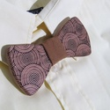 Csokornyakkendő cseresznyefából, Férfiaknak, Esküvő, Ing, Vőlegényes, Famegmunkálás, Varrás, Tömör cseresznyefából készült csokornyakkendő. A képeken látható darab készen van, személyes átvéte..., Meska