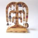 Ékszertartó fa - 20 pár fülbevalónak, Ékszer, Ékszertartó, Fülbevaló, Famegmunkálás, Ez a kézzel készített, saját tervezésű, szomorúfűz formájú ékszertartó kifejezetten fülbevalóknak k..., Meska