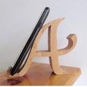 """mobiltartó """"A"""" betűvel, Otthon & lakás, Dekoráció, Lakberendezés, Tárolóeszköz, Polcra, éjjeli szekrényre, kis asztalra helyezhető, """"A"""" betű formájú asztali mobiltartó.  Anyaga: 28..., Meska"""