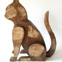 """Deszkából készült macska szobor, Dekoráció, Otthon, lakberendezés, Dísz, Kerti dísz, Famegmunkálás, Egyedi kéréssel kerestek meg bennünket:  """"Érdeklődni szeretnék, hogy a mellékelt képen szereplő cic..., Meska"""