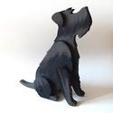 Deszkából készült snauzer kutya szobor, Snauzer szobor fából. Egy nem mindennapi dekorá...