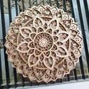 Mandala fa falikép, A mandala falikép 4 réteg, 4 mm vastag rétegelt...