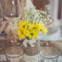 Vintage mécsestartó vagy váza, esküvői dekor, Zsákvászonnal és csipkével díszített befőtt...