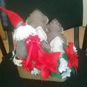 asztali dekoráció, Dekoráció, Ünnepi dekoráció, Karácsonyi, adventi apróságok, Karácsonyi dekoráció, Varrás, Patchwork, foltvarrás, Az adventi időszak remek asztali dekorációja. Étkezőbe és nappaliba is emlékeztet az ünnepvárásra. ..., Meska
