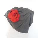 Piros nemezvirág , Ruha, divat, cipő, Hajbavaló, 100% ausztrál merinógyapjúból készült , nemezvirág.Extravagáns megjelenéshez ajánlom ruhára, kabátra..., Meska