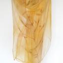 hernyóselyem  homok-sárgás-barnás árnyalatú  stóla 195x90cm, Ruha, divat, cipő, Kendő, sál, sapka, kesztyű, Kendő, Sál, Kézzel festett , homok színű, sárgával és barnával árnyalt  selyemsál A selyem mindig kifinomultságo..., Meska