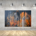 Rusty, Dekoráció, Képzőművészet, Kép, Festmény, Festészet, Víz alapú falfesték, falap, szatén lakk. 130x81 cm, Meska