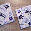 Lila - halványlila mandala kép szitakötővel párban, Otthon, lakberendezés, Dekoráció, Kép, Falikép, , Meska