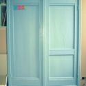 szekrény, Bútor, Szekrény, Festett tárgyak, Nagyméretű szekrény festését vállalom, a képen látható szekrénnyel azonos stílusban. Hozott bútor á..., Meska
