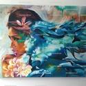 Dimitra Milan replika, Képzőművészet, Dekoráció, Festmény, Napi festmény, kép, Festészet,  Egyik kedvenc festőm, Dimitra Milan, Transcendence című képe alapján készült replikáció.   Ez a fe..., Meska