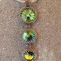 Három swarovski kristályos  nyaklánc, Három, crystal vitral medium színű, különböz...