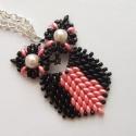 Fekete/rózsaszín Bagoly, Gyönyörű, elegáns baglyos nyaklánc. Diszkrét...