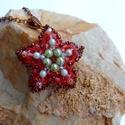 Tengeri csillag nyaklánc, Ékszer, óra, Nyaklánc, Swarovski gyöngyökből készített medál. Nyaklánc hossza állítható Medál mérete: 3,5 cm, Meska