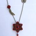 Csillagvirág nyaklánc, Ékszer, óra, Nyaklánc, Minőségi üveggyöngyökből készített nyaklánc.  Hossza állítható, Meska