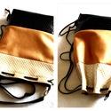 3 in1 rosegold hátizsák/válltáska, Táska, Válltáska, oldaltáska, Nyomott mintás fekete,gyöngyházfényű beige,és rosegold műbőrből készítettem ezt a női hátizsákot,ami..., Meska
