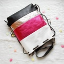 3 in1 hátizsák/válltáska metál pikkel, Táska, Válltáska, oldaltáska, Nem csak unikornis kedvelőknek! :) Nyomott mintás fehér,nyomott mintás fekete, metál fényű pink és e..., Meska