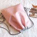 Tavasz/steppelt hátizsák/tornazsák/gymbag..., Táska, Válltáska, oldaltáska, Puder rózsaszín,steppelt nyomott mintás különösen szép és minőségi műbőrből készítettem ezt a női há..., Meska