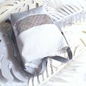 Wave_3in1 ezüst fehérrel hátizsák/válltáska, Egy újabb háromfunkciós táskát készítettem ...