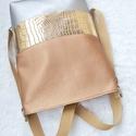 3 in1 gold-rosegold-silver hátizsák/válltáska+ neszesszer, Megrendelésre készült háromfunkciós táskát ...