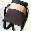3 in1  rosegold-barna hátizsák/válltáska, Ezt a háromfunkciós táskát megrendelésre kés...