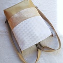 3 in1 gold-gold hátizsák/válltáska, Egy újabb háromfunkciós táskát készítettem ...