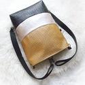 Wave_3in1 bronz-beige hátizsák/válltáska, Egy újabb háromfunkciós táskát készítettem ...