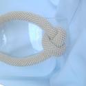 Horgolt csomó nyaklánc, Ékszer, Esküvő, Anyák napja, Nyaklánc, Horgolt csomócska nyaklánc csinos kiegészítője lehet ruhatáradnak.  Fényes zsinórból készűlt egy cso..., Meska