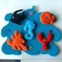 Tépőzáras tengeri kép, Gyerek & játék, Otthon & lakás, Játék, Készségfejlesztő játék, Lakberendezés, Falióra, óra, Játékfigura, Gyermek szoba falára, variálható képecske. 40 x 30 cm, Meska