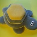 Tépőzáras teknős, Baba-mama-gyerek, Játék, Játékfigura, Teknős építőtorony.  24 x 21 cm, Meska