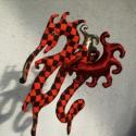 Sárkány, Dekoráció, Játék, Képzőművészet, Dísz, Szoba díszként ajánlom a kockás sárkányomat, nem játéknak. 28 x 28 cm, Meska