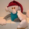 Manó, Gyerek & játék, Játék, Játékfigura, Plüssállat, rongyjáték, Puha, izgő-mozgó keze-láb :) alvós manó. méret: 30 cm mosható töltettel. 3 éves kortól. Rövid lábú v..., Meska