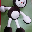 Kippkopp gesztenye fiúbaba, Játék, Baba játék, Varrás, Pihe-puha kedves plüss figura. 36 cm magas. Mosható., Meska