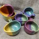 Görbe presszókávés csésze készlet :), Konyhafelszerelés, Esküvő, Bögre, csésze, Nászajándék, Kerámia, 6db csészét tartalmaz a készlet. A csészék kb 1 dliteresek. Ezeket az edényeket, családi vállalkozá..., Meska