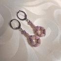 Kis halvány rózsaszín/lila fülbevaló, Ékszer, Lógós fülbevaló, Fülbevaló, Gyöngyfűzés, gyöngyhímzés, Halvány piszkos rózsaszín/lila  pinch gyöngyből és toho kásagyöngyből készítettem azt a fülbevalót...., Meska