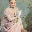 akril festmény feszített vásznon, Művészet, Festmény, Festészet, Charles Joshua Chaplin, 19. századi akadémikus festőművész gyönyörű életképe villámgyorsan belopta ..., Meska