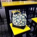 Citromos táska, project bag, uzsis táska, Rosie, Táska, Divat & Szépség, Táska, Válltáska, oldaltáska, Varrás, Rosie táskáim megállják a helyüket a mindennapokban is, de kialakításának köszönhetően nagyon jók k..., Meska